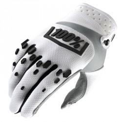 Gants 100% Airmatic blanc/noir