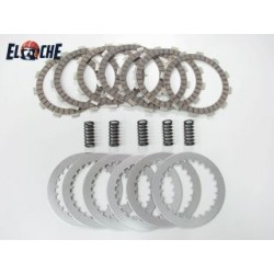 PACK EMBRAYAGE Elche KTM 144 SX 08 (disques lisses, garnis, ressorts)