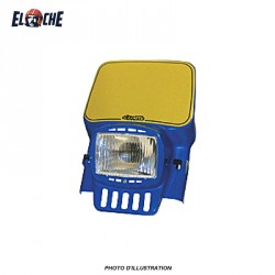 CEMOTO PLAQUE PHARE RECTANG ECO BLEU