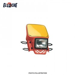 CEMOTO PLAQUE PHARE ENDURO TYPE UNIVERSELLE ROUGE