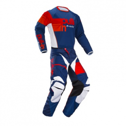 Tenue cross pantalon + maillot Pull-in Race bleu rouge