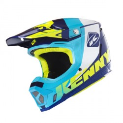 Casque cross Kenny performance bleu orange