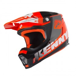 Casque cross Kenny performance bleu blanc