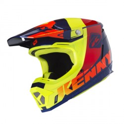 Casque cross Kenny performance orange