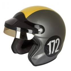 Casque DMD Jet cuire Grey smoked