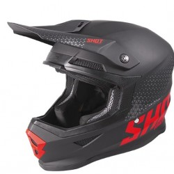 Casque Troy Lee Design SE4 en Polyacrylie noir/blanc